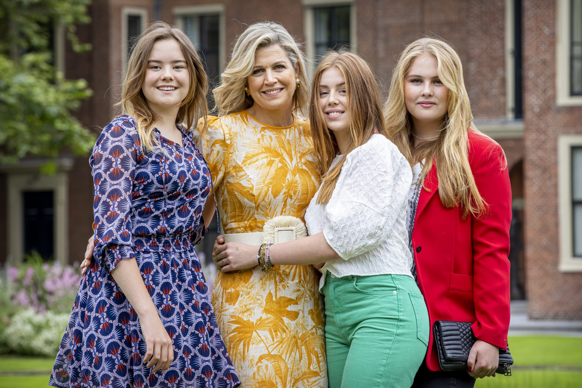 Queen Maxima of The Netherlands, Princess Amalia of The Netherlands, Princess Alexia of The Netherlands and Princess Ariane of The Netherlands