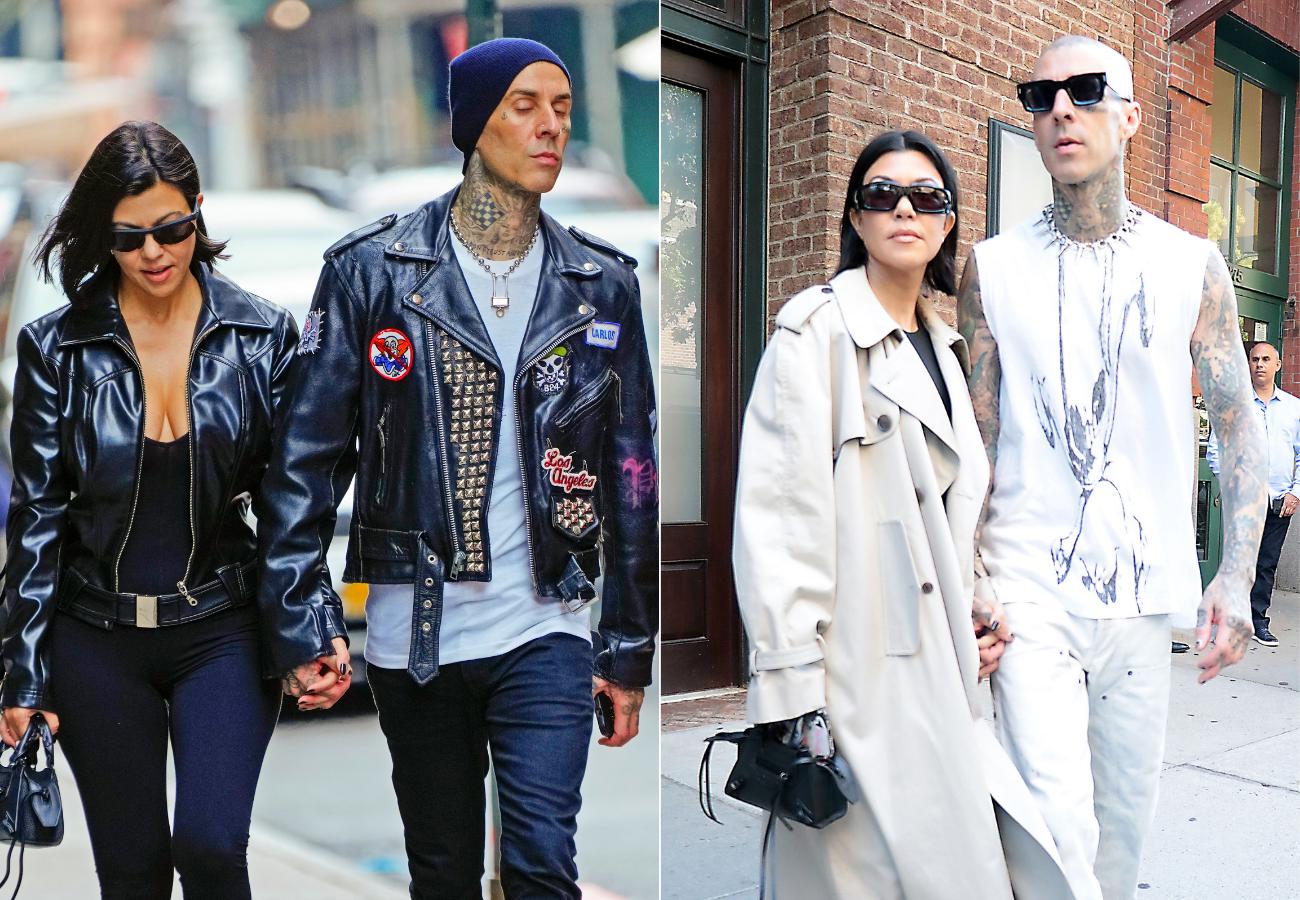 Kourtney Kardashian y Travis Barker momentos fashion