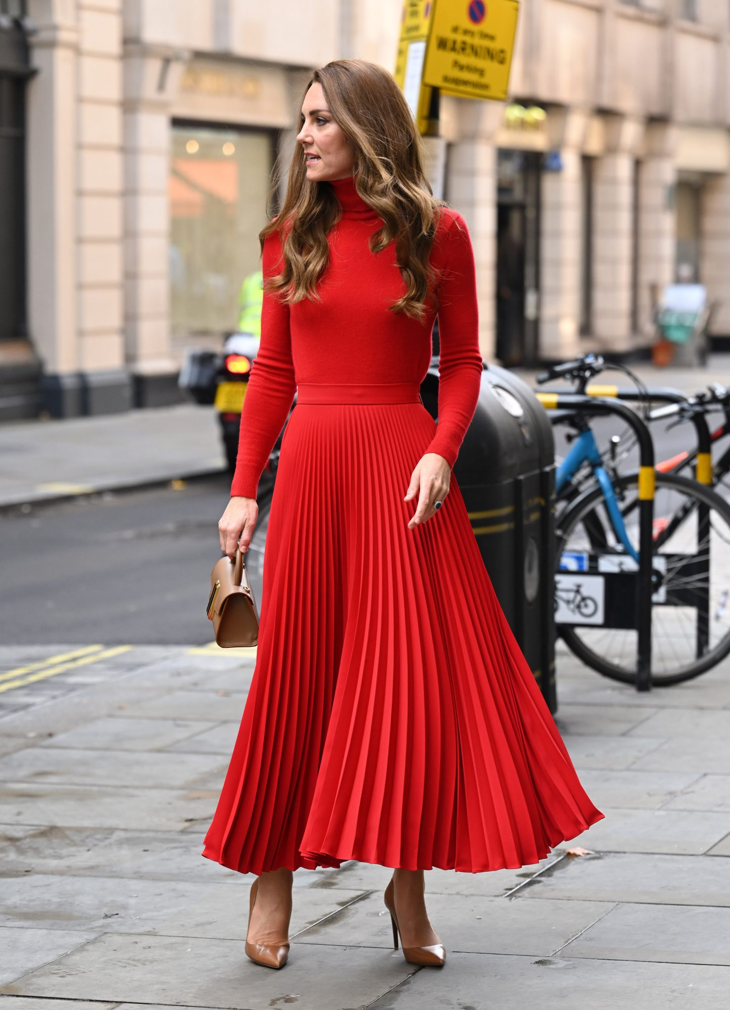 Kate Middleton, falda plisada