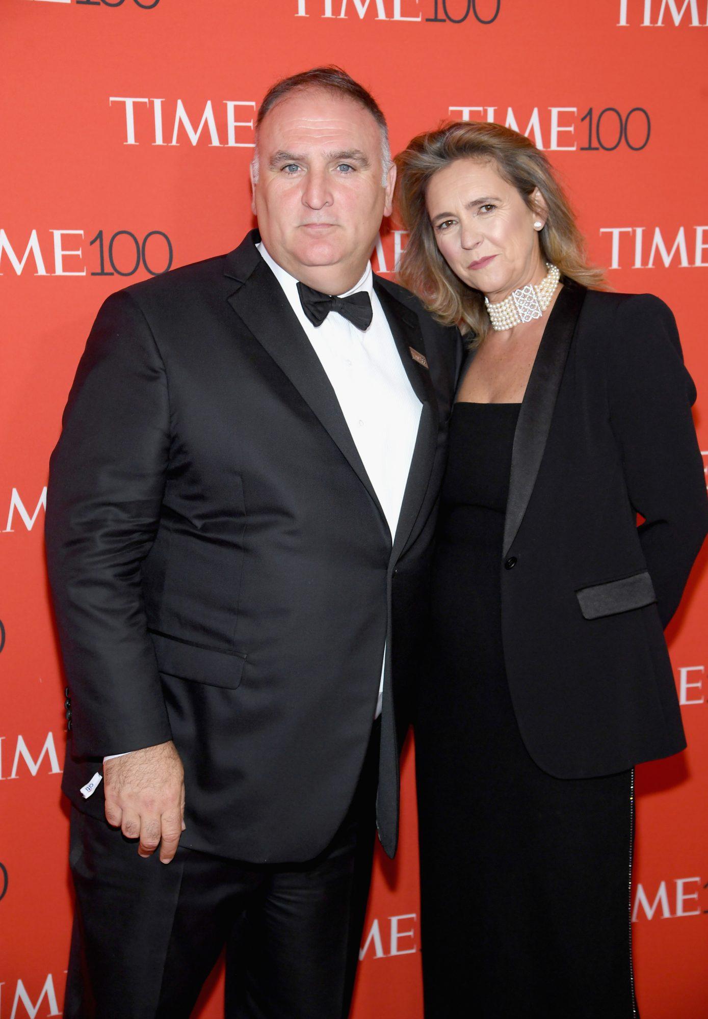 José Andrés y su esposa Patricia Fernández de la Cruz en la Gala de Times