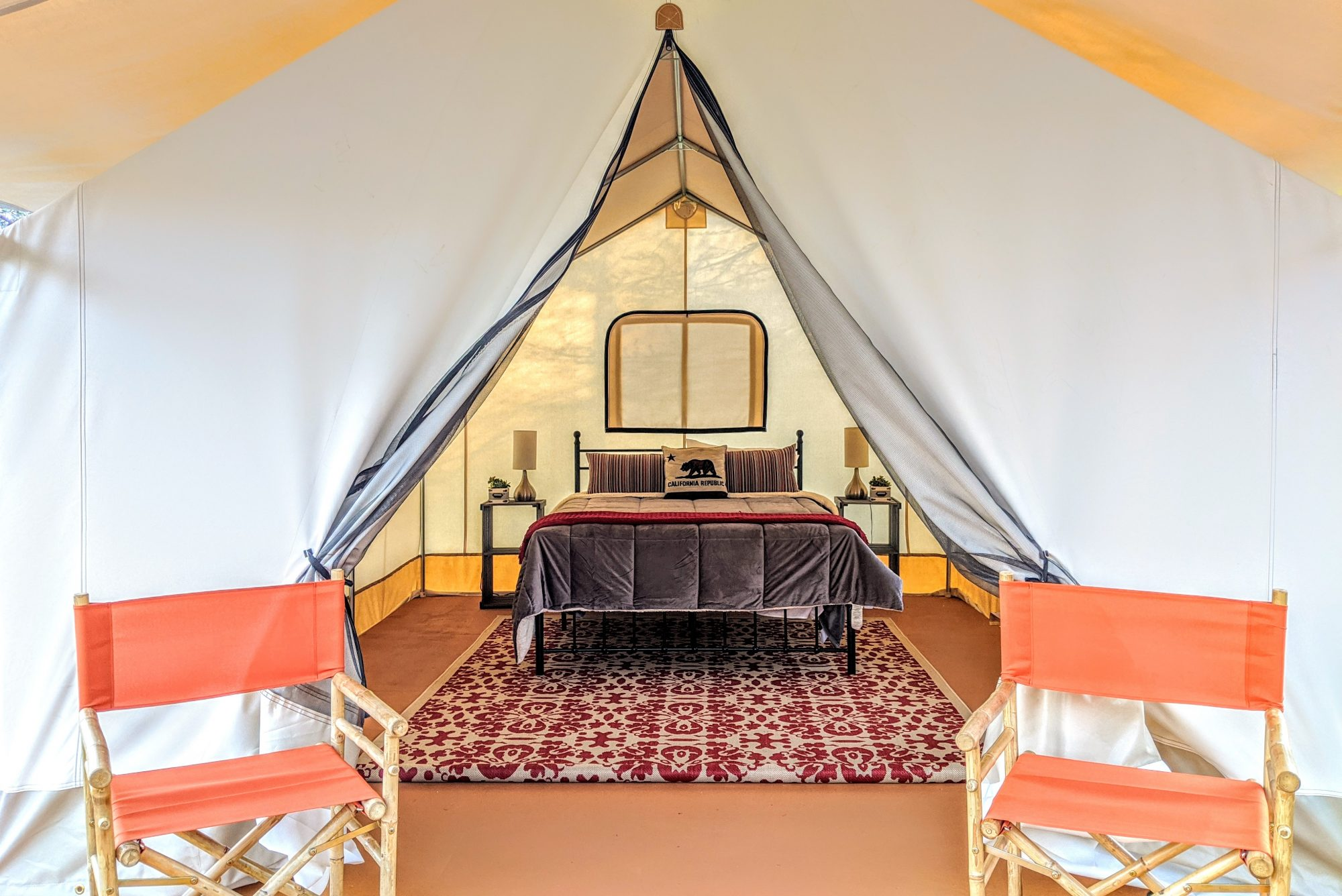 Wildhaven Sonoma - Glamping Tent deck -Credit Wildhaven Sonoma