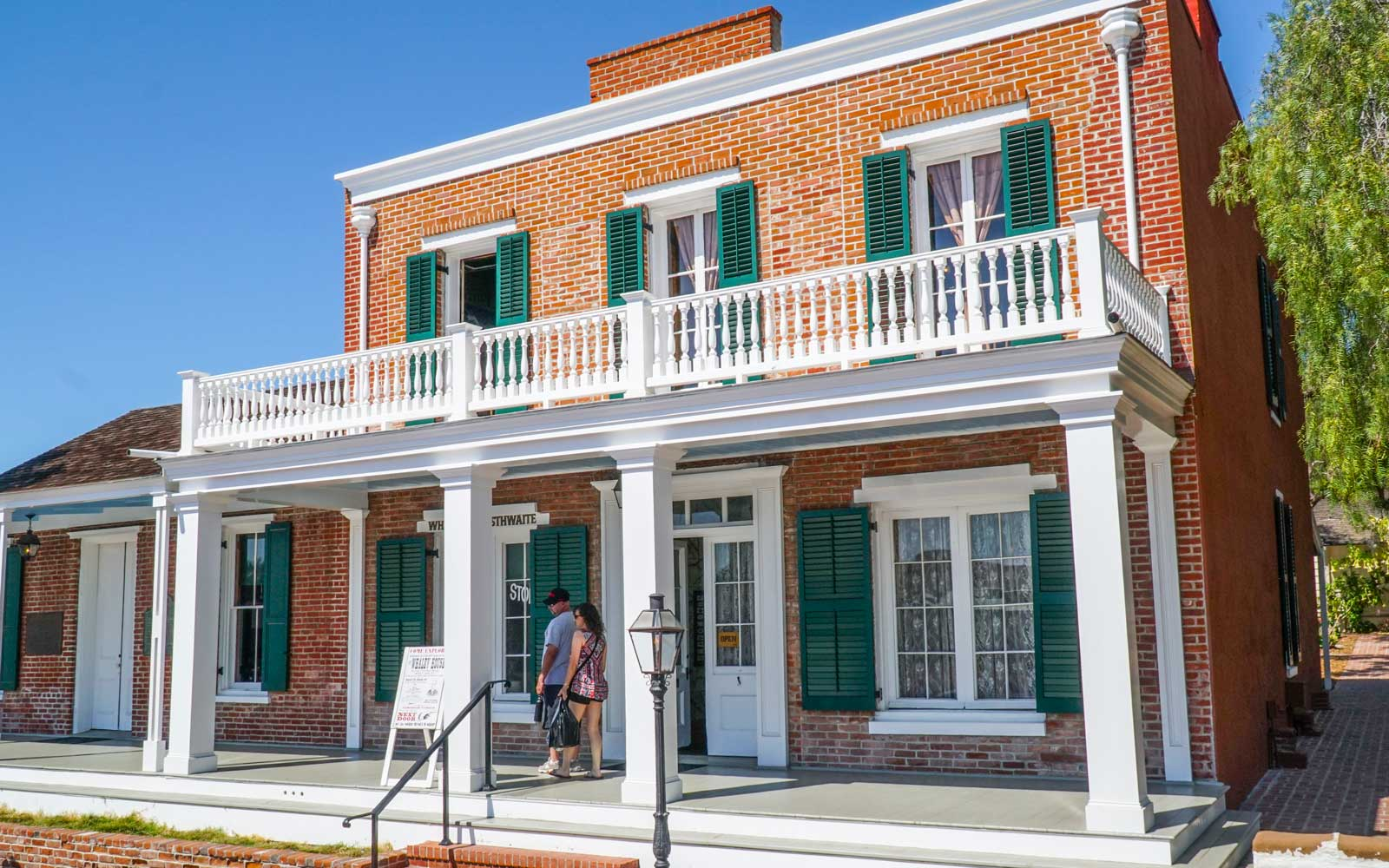 Famous Whaley House in San Diego, California Old Town