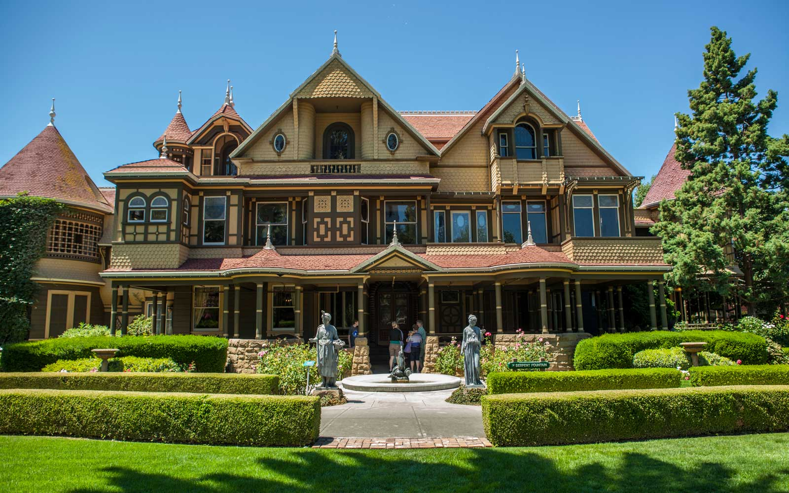 The Winchester Mystery House is a well-known mansion in Northern California.