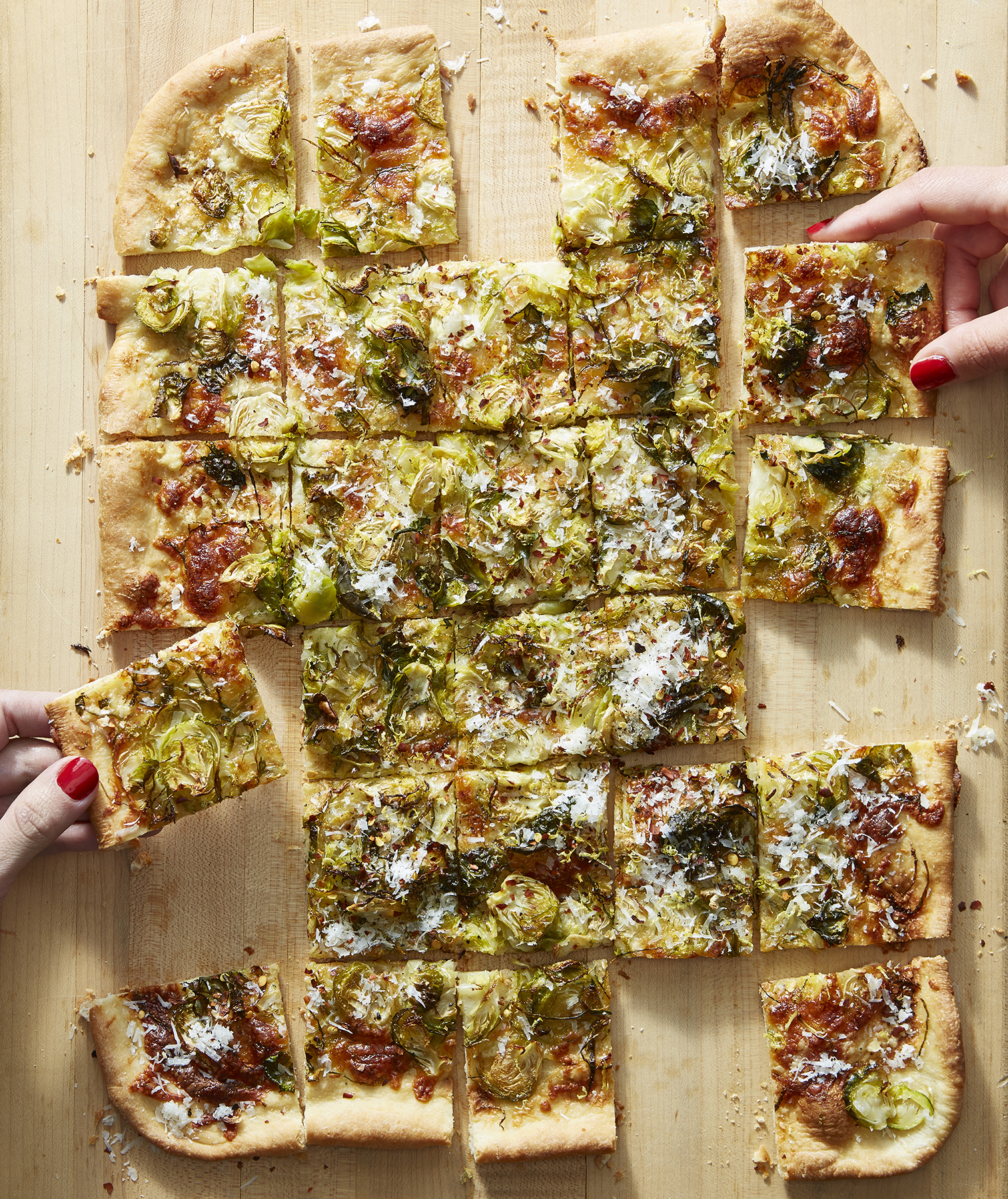 Brussels Sprouts Flatbread With Lemon and Pecorino