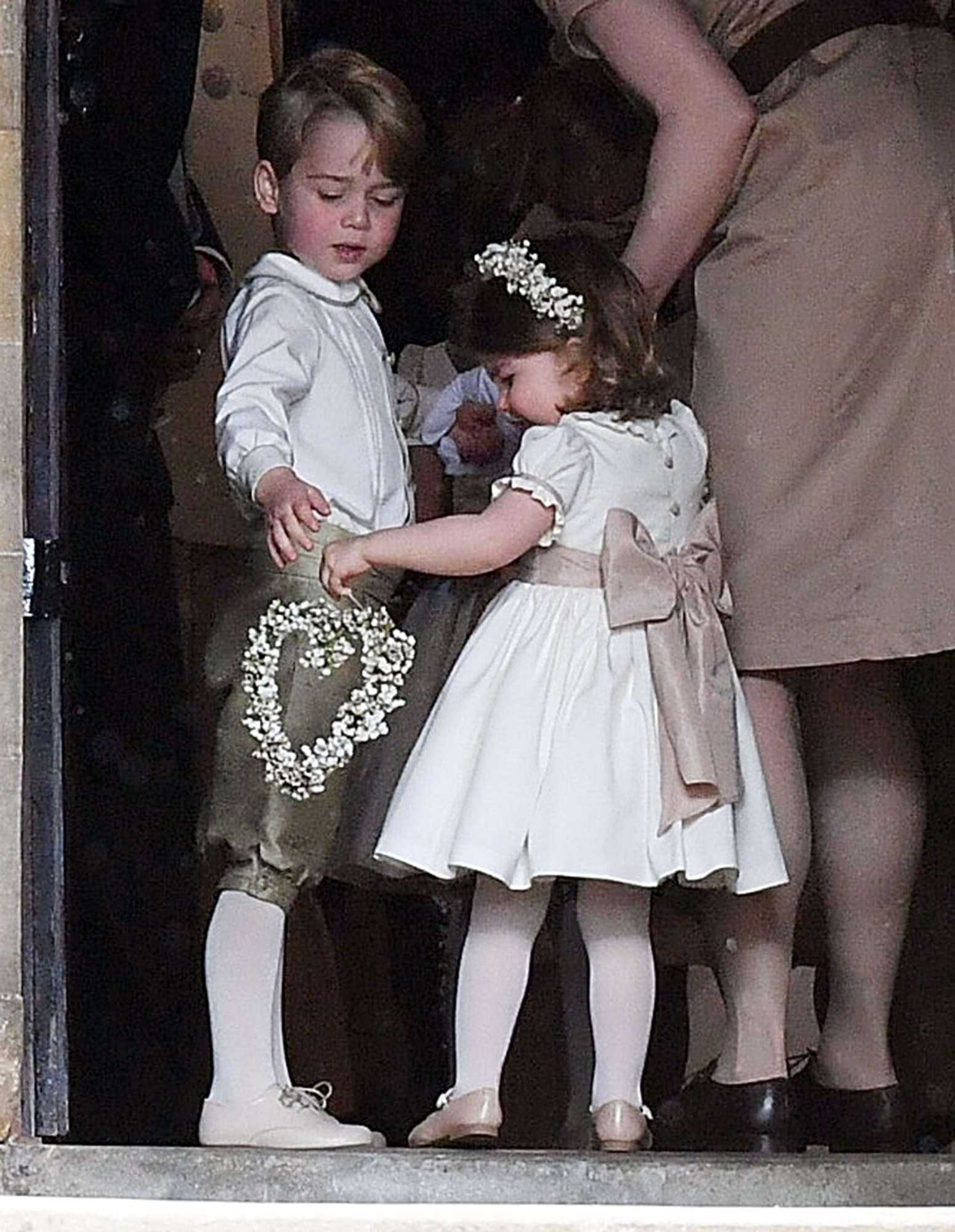 See an Adorable Prince George and Princess Charlotte in Aunt Pippa's Wedding!