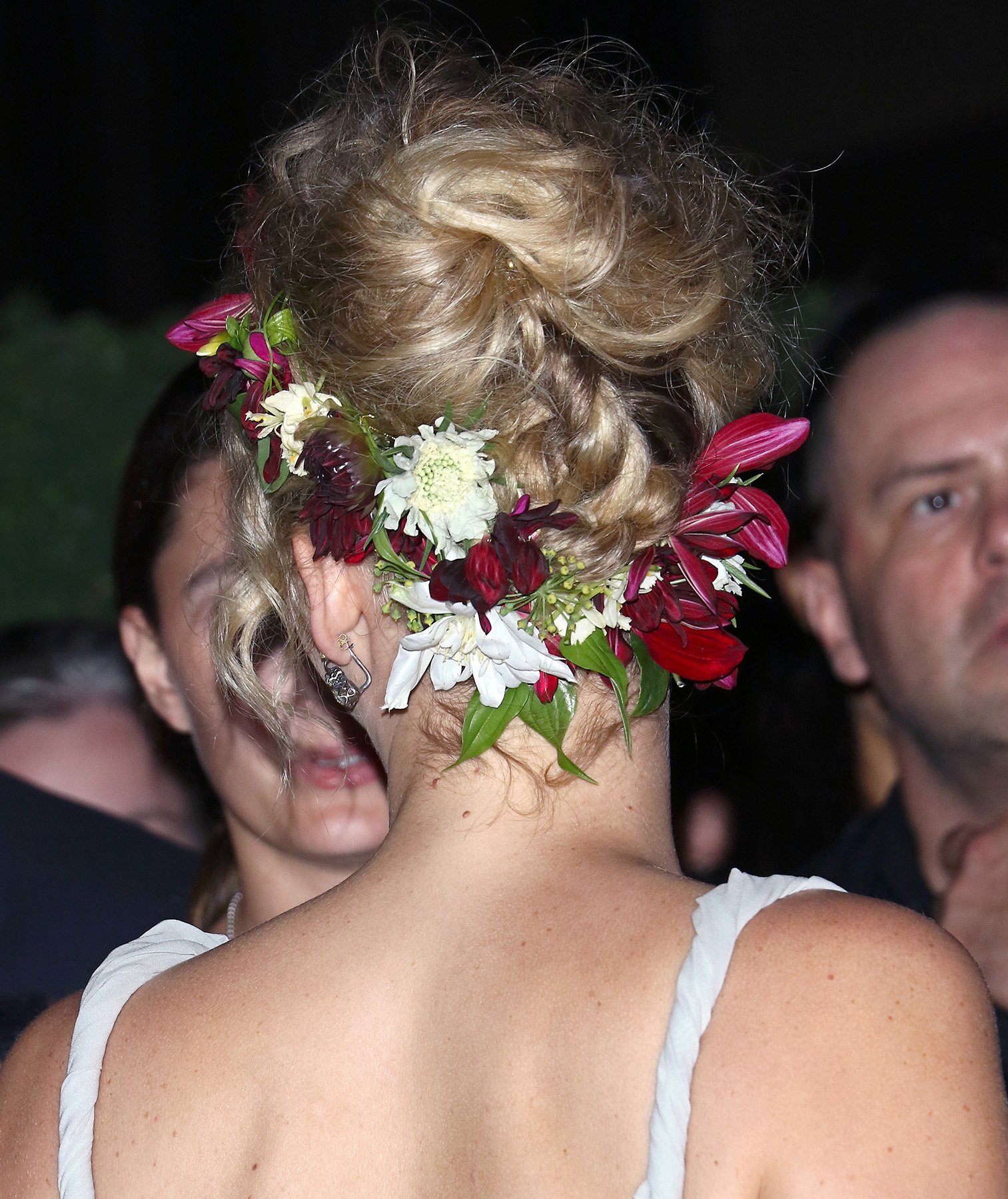 Jennifer Lawrence with flowers in her hair