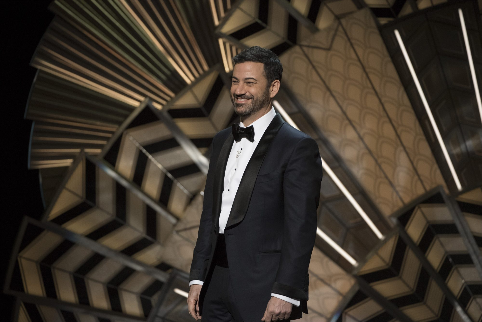 Jimmy Kimmel on stage for the 89th Oscars