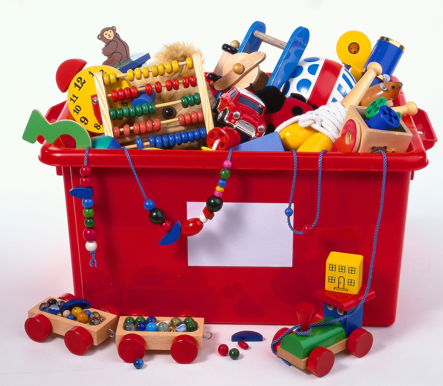 Red toy box