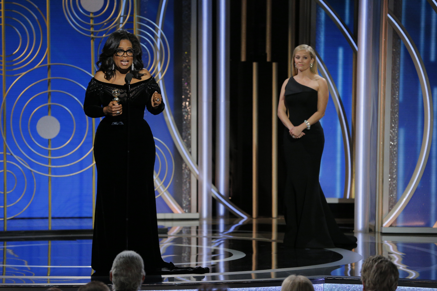 Witherspoon and Oprah at Golden Globes