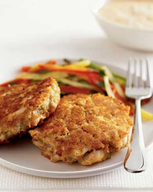 Fish Cakes With Chipotle Cream