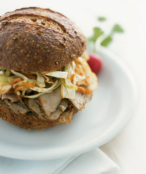 Pork Sandwiches With Coleslaw