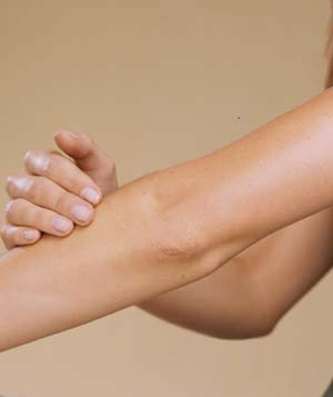 A woman's elbow