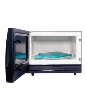 microwave with cutting board