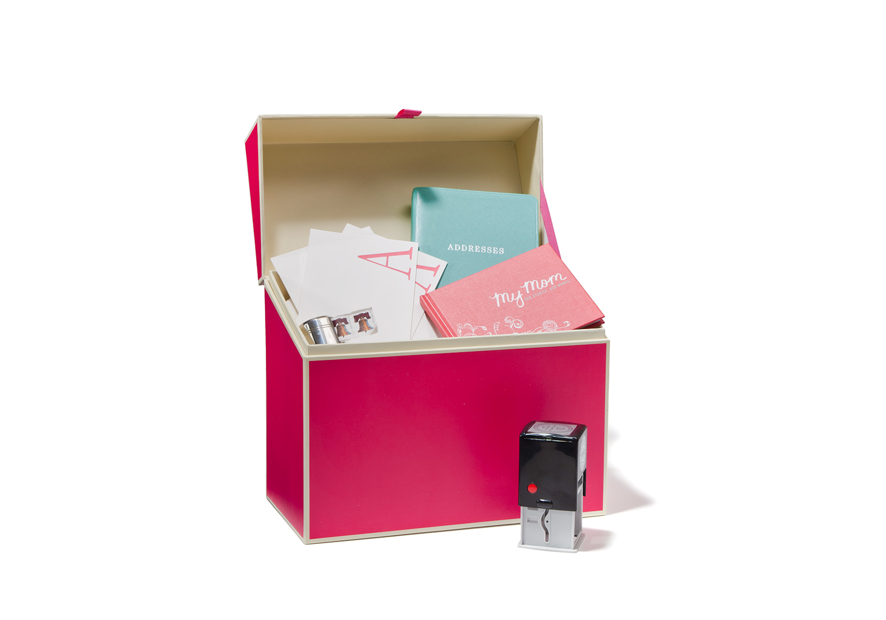 Pink gift box for Mother's Day