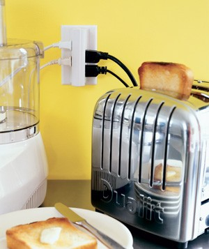Toaster on a kitchen countertop