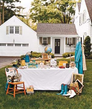 Tag sale on front lawn