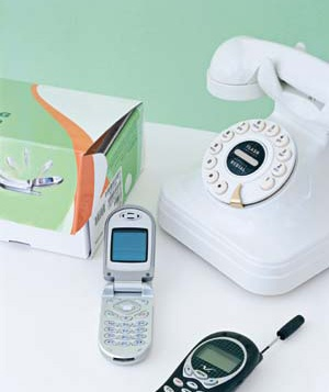 Desk phone and cell phones