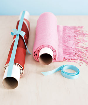 Fabric wrapped around mailing tubes