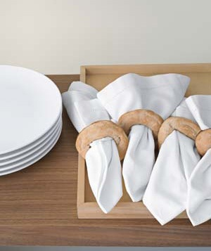 Edible napkin rings