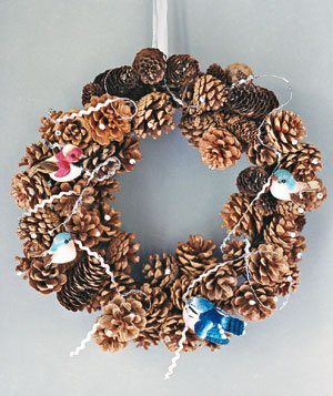 A wreath with decorations