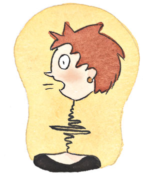 Illustration of a man with hiccups