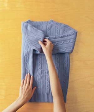 How to Fold a Sweater Step 2