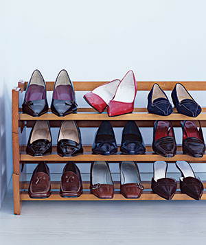 Rack of shoes