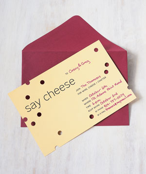 Cheese party invitations