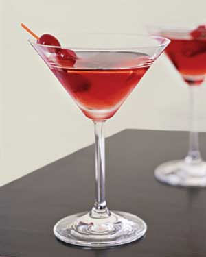 Cocktail with cranberries