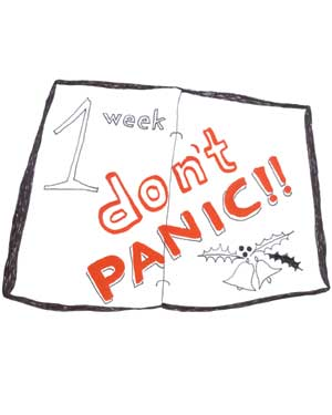 illustration 1 week don't panic