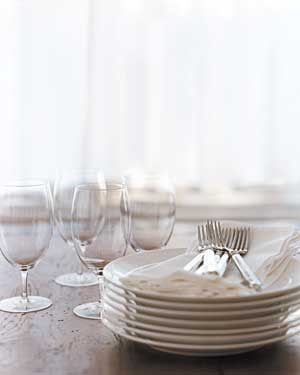Plates and glasses