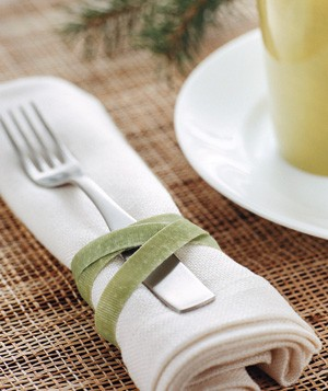 Place setting held together with velcro