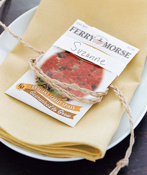 Seed packet as place card