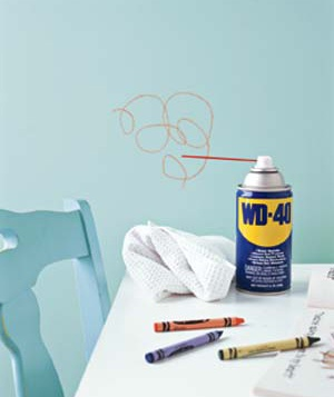 WD-40 as Crayon Cleanup