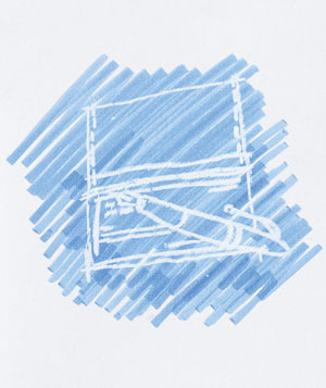 Doodle of a checkbook