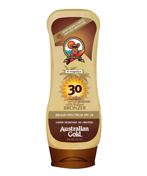 Australian Gold 30 SPF Lotion With Kona Coffee Bronzers