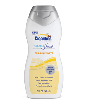 Coppertone Clearly Sheer for Sunny Days Lotion SPF 30