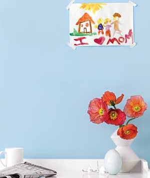 Flowers with child painting