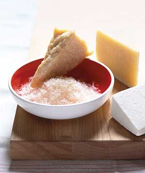 Parmesan, romano, and ricotta salita cheese
