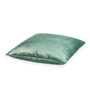 Green pillow on the floor.