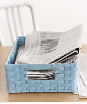 Newspapers in a basket