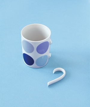 Mug with broken handle