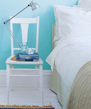 Repurpose Chairs as Bedside Tables