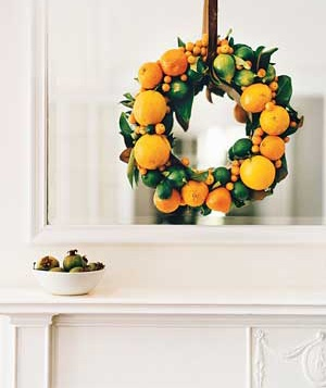 Christmas decoration ideas - Lemon orange wreath