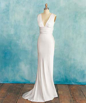 Wedding dress for tall women