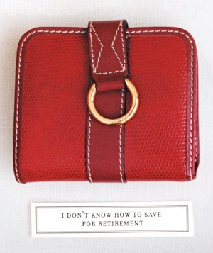 A red wallet