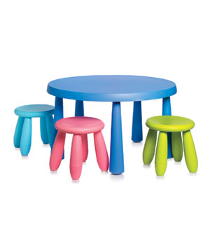 Children's table and stools