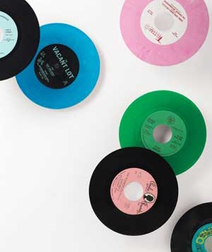 Records in different colors