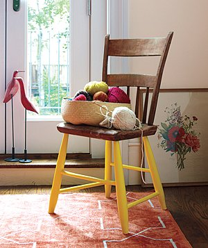 Chair with painted legs