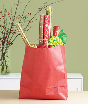 Gift wrap in a shopping bag